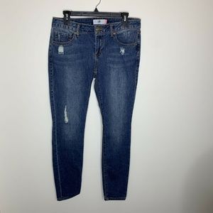 CAbi Distressed Skinny Jeans Denim Womens Size 6